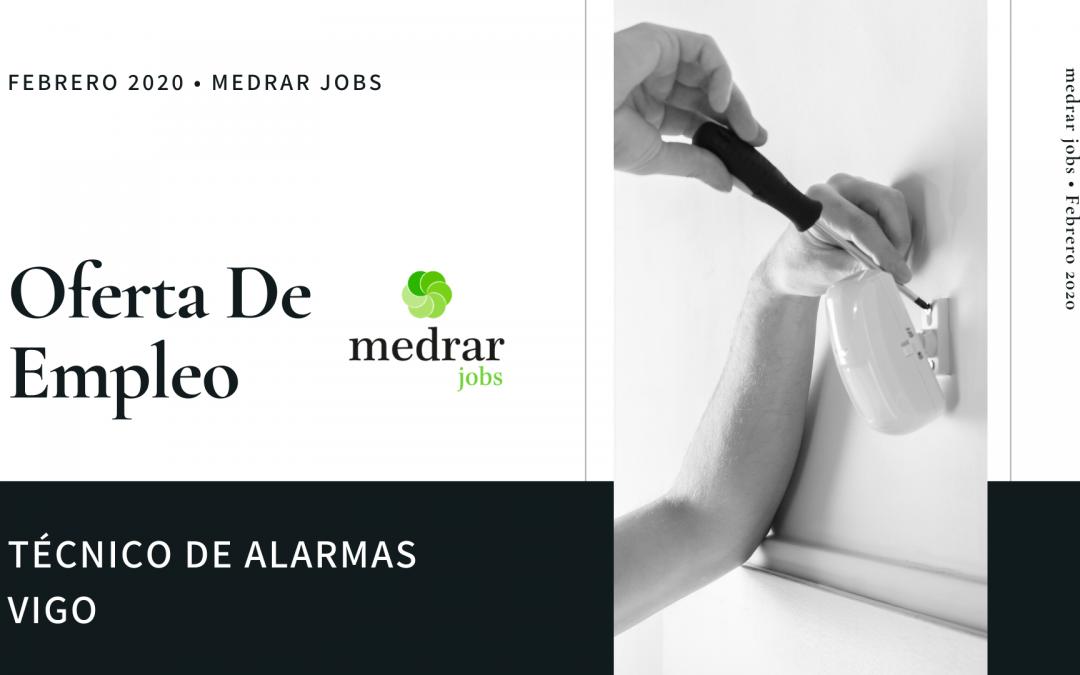 Oferta de empleo Técnico alarmas en Vigo