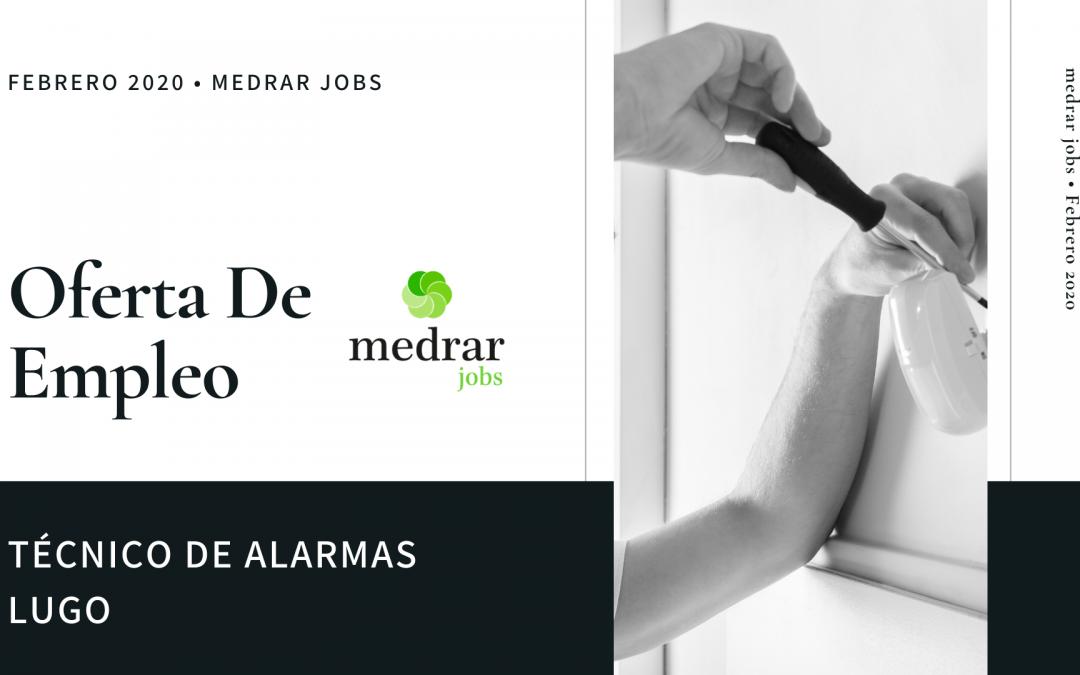 Oferta de empleo Técnico alarmas en Lugo