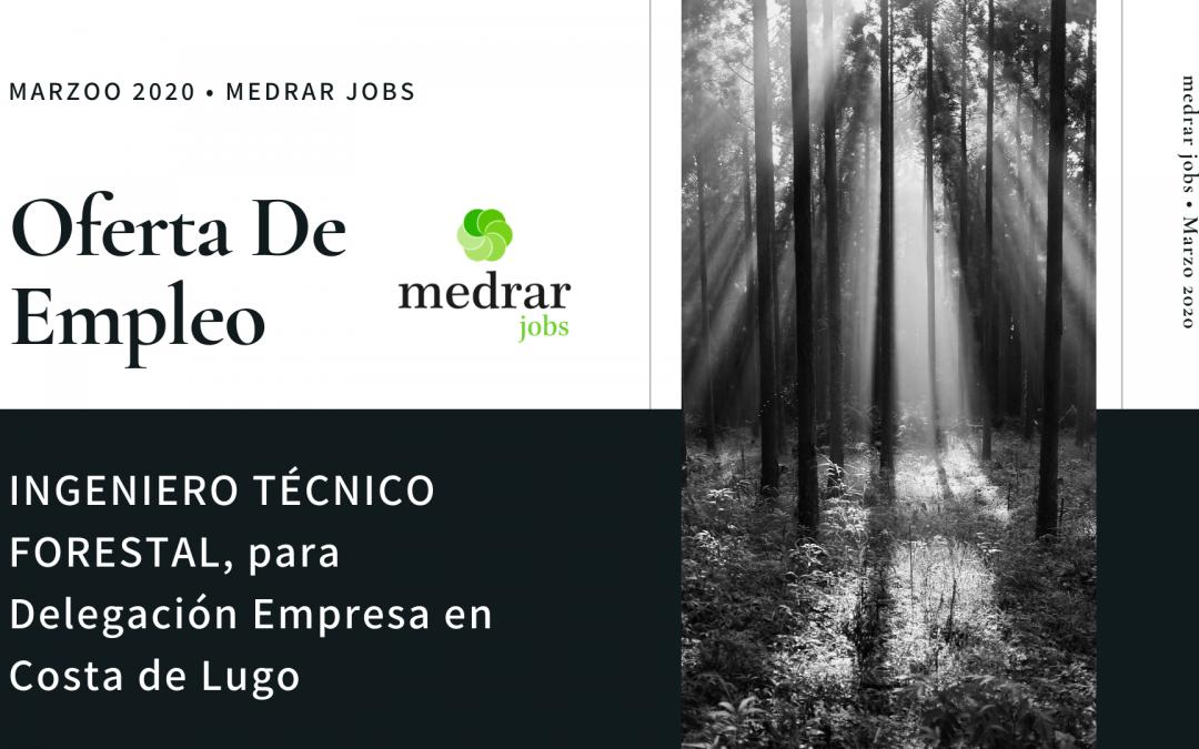 Oferta de Ingeniero Técnico Forestal para la Costa de Lugo. Importante Consultora de Ingeniería